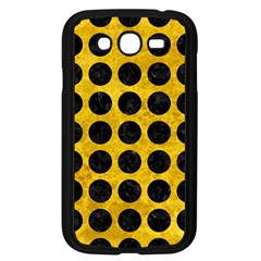 Circles1 Black Marble & Yellow Marble (r) Samsung Galaxy Grand Duos I9082 Case (black) by trendistuff