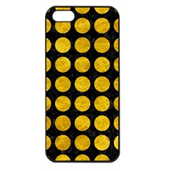 Circles1 Black Marble & Yellow Marble Apple Iphone 5 Seamless Case (black) by trendistuff