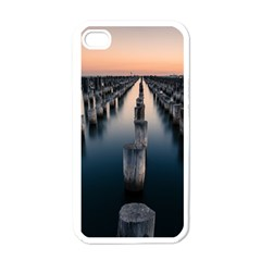 Logs Nature Pattern Pillars Shadow Apple Iphone 4 Case (white) by Amaryn4rt