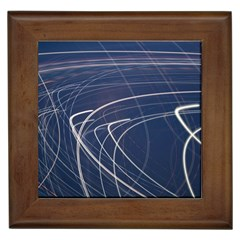 Light Movement Pattern Abstract Framed Tiles by Amaryn4rt