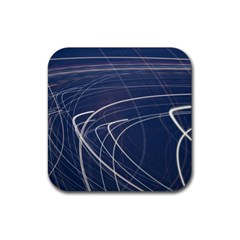 Light Movement Pattern Abstract Rubber Square Coaster (4 Pack)  by Amaryn4rt