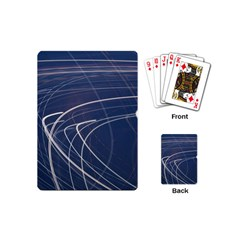 Light Movement Pattern Abstract Playing Cards (mini)  by Amaryn4rt