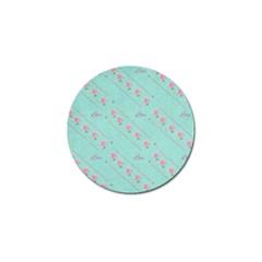 Love Flower Blue Background Texture Golf Ball Marker by Amaryn4rt