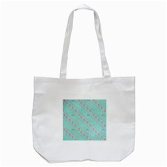 Love Flower Blue Background Texture Tote Bag (white)