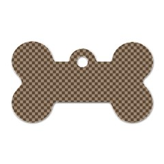 Pattern Background Diamonds Plaid Dog Tag Bone (one Side)