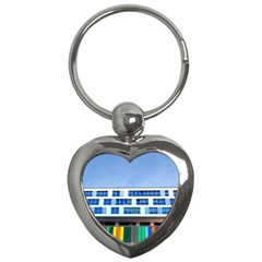 Office Building Key Chains (heart)  by Amaryn4rt