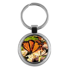 Monarch Butterfly Nature Orange Key Chains (round)  by Amaryn4rt