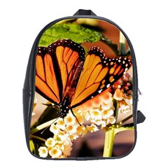 Monarch Butterfly Nature Orange School Bags(large)