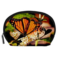 Monarch Butterfly Nature Orange Accessory Pouches (large)  by Amaryn4rt