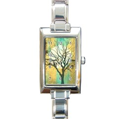 A Glowing Night Rectangle Italian Charm Watch by theunrulyartist