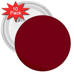 Deep Red 3  Buttons (10 Pack)  by Valentinaart