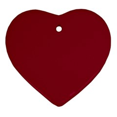 Deep Red Heart Ornament (two Sides) by Valentinaart