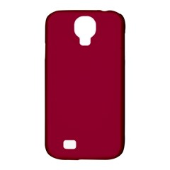 Deep Red Samsung Galaxy S4 Classic Hardshell Case (pc+silicone) by Valentinaart