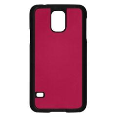 Deep Red Samsung Galaxy S5 Case (black) by Valentinaart
