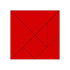 Just Red Acrylic Tangram Puzzle (4  X 4 ) by Valentinaart