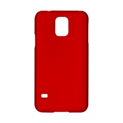 Just Red Samsung Galaxy S5 Hardshell Case  by Valentinaart