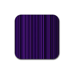 Purple Rubber Square Coaster (4 Pack)  by Valentinaart