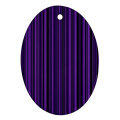 Purple Oval Ornament (two Sides) by Valentinaart