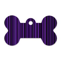 Purple Dog Tag Bone (two Sides) by Valentinaart