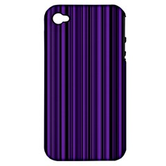 Purple Apple Iphone 4/4s Hardshell Case (pc+silicone) by Valentinaart
