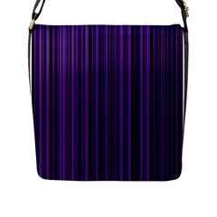 Purple Flap Messenger Bag (l)  by Valentinaart