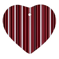 Red Lines Ornament (heart) by Valentinaart