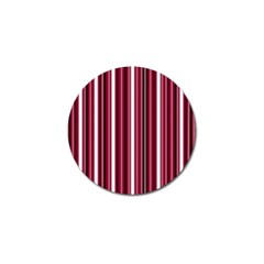 Red Lines Golf Ball Marker by Valentinaart