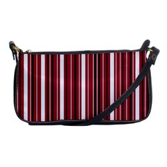 Red Lines Shoulder Clutch Bags by Valentinaart