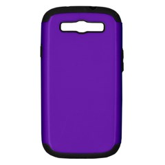 Purple Samsung Galaxy S Iii Hardshell Case (pc+silicone) by Valentinaart