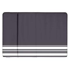 Gray Samsung Galaxy Tab 8 9  P7300 Flip Case by Valentinaart
