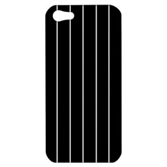 Black And White Lines Apple Iphone 5 Hardshell Case by Valentinaart