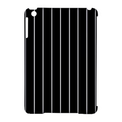 Black And White Lines Apple Ipad Mini Hardshell Case (compatible With Smart Cover) by Valentinaart