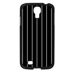 Black And White Lines Samsung Galaxy S4 I9500/ I9505 Case (black) by Valentinaart
