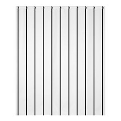 White And Black Lines Shower Curtain 60  X 72  (medium)  by Valentinaart