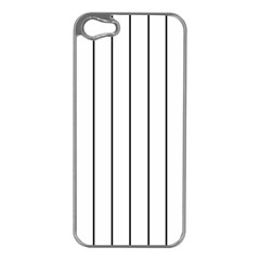 White And Black Lines Apple Iphone 5 Case (silver) by Valentinaart