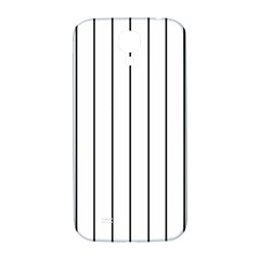 White And Black Lines Samsung Galaxy S4 I9500/i9505  Hardshell Back Case by Valentinaart