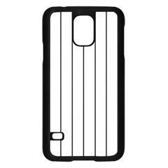 White And Black Lines Samsung Galaxy S5 Case (black) by Valentinaart