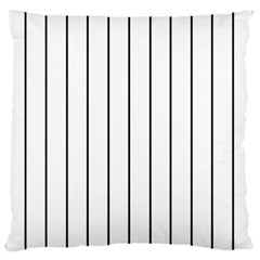 White And Black Lines Standard Flano Cushion Case (one Side) by Valentinaart