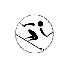 Archery Skiing Pictogram Hat Clip Ball Marker (4 Pack) by abbeyz71
