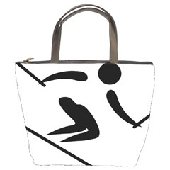 Archery Skiing Pictogram Bucket Bags by abbeyz71