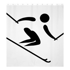Archery Skiing Pictogram Shower Curtain 66  X 72  (large)  by abbeyz71