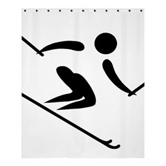 Archery Skiing Pictogram Shower Curtain 60  X 72  (medium)  by abbeyz71