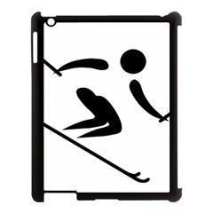 Archery Skiing Pictogram Apple Ipad 3/4 Case (black) by abbeyz71