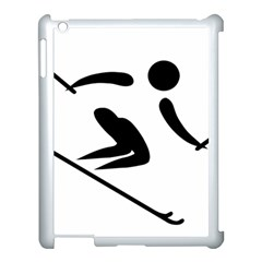 Archery Skiing Pictogram Apple Ipad 3/4 Case (white) by abbeyz71