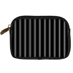 Black And White Lines Digital Camera Cases by Valentinaart
