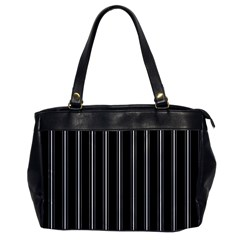 Black And White Lines Office Handbags by Valentinaart