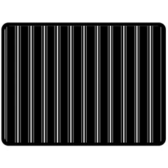 Black And White Lines Fleece Blanket (large)  by Valentinaart