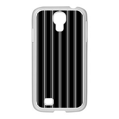 Black And White Lines Samsung Galaxy S4 I9500/ I9505 Case (white) by Valentinaart