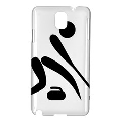 Curling Pictogram  Samsung Galaxy Note 3 N9005 Hardshell Case by abbeyz71