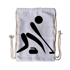 Curling Pictogram  Drawstring Bag (small) by abbeyz71